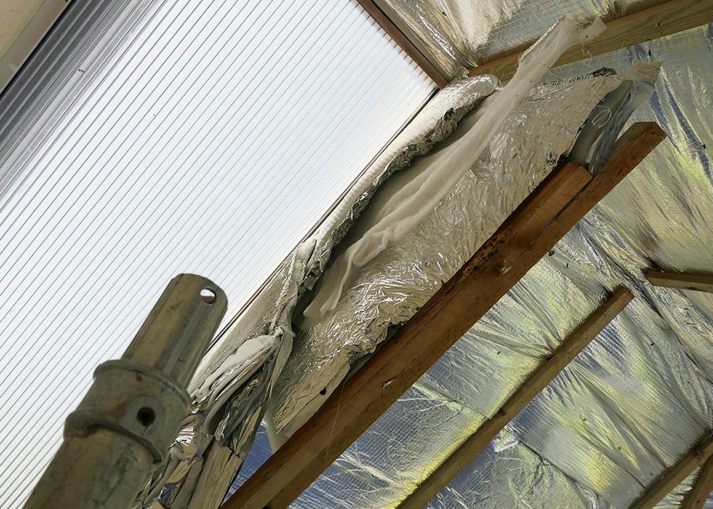 Clad over insulation