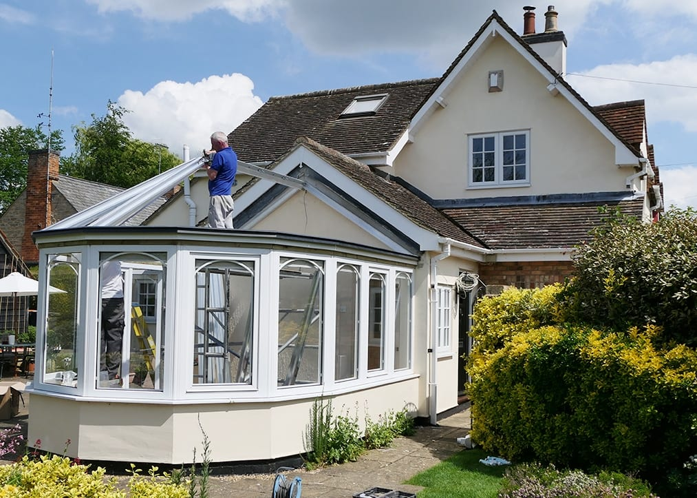 Conservatory roof removal