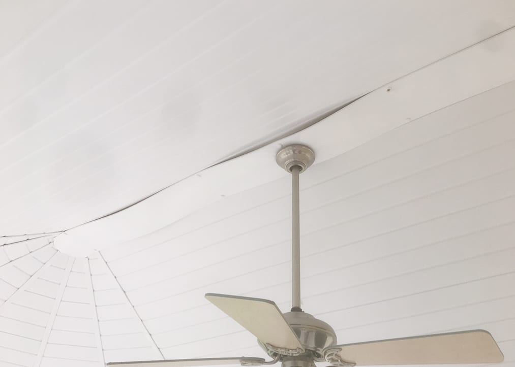 Insulated conservatory roof from inside with panels