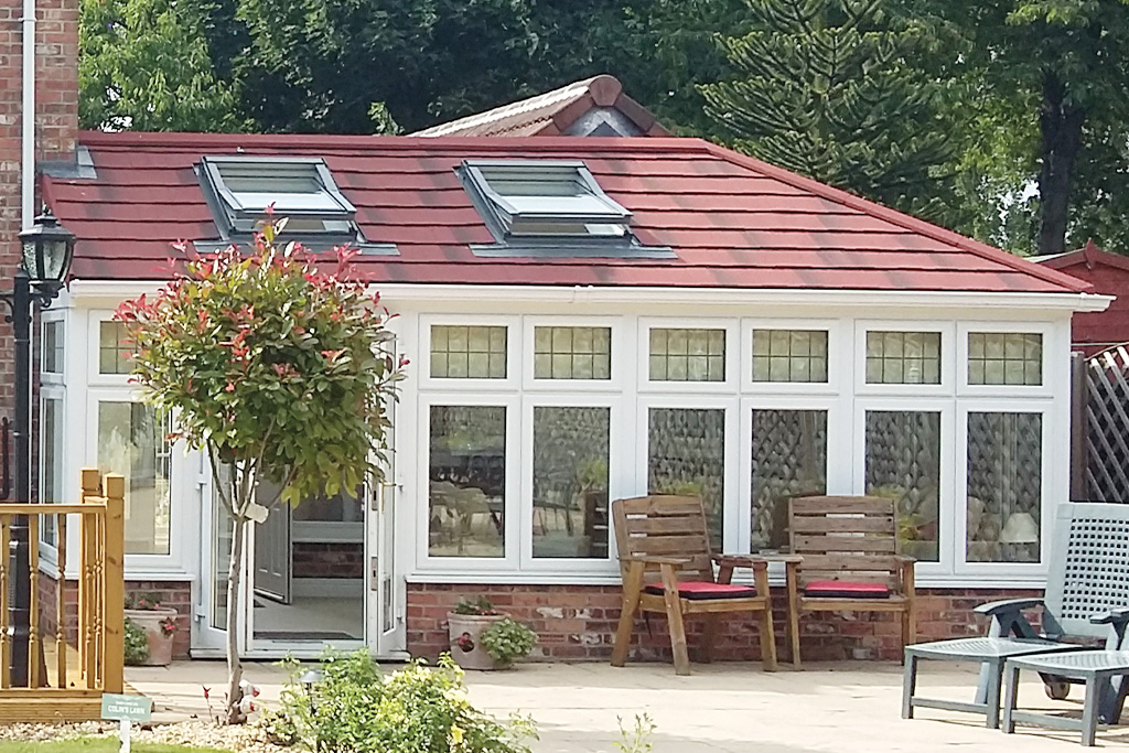 Guardian Warm Roof with Espirit Roof Tiles