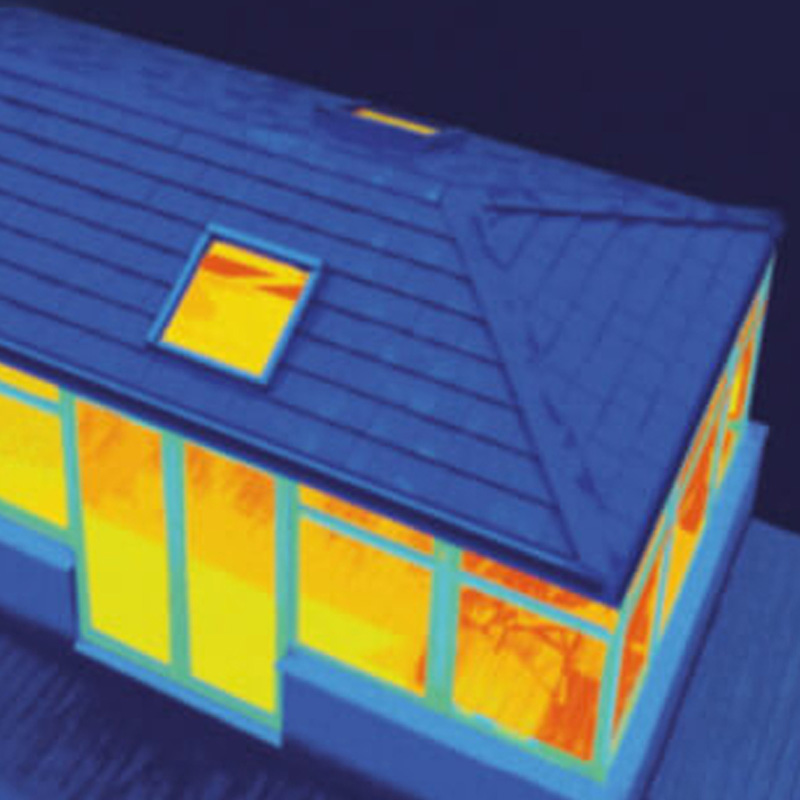 thermal image of guardain warm roof